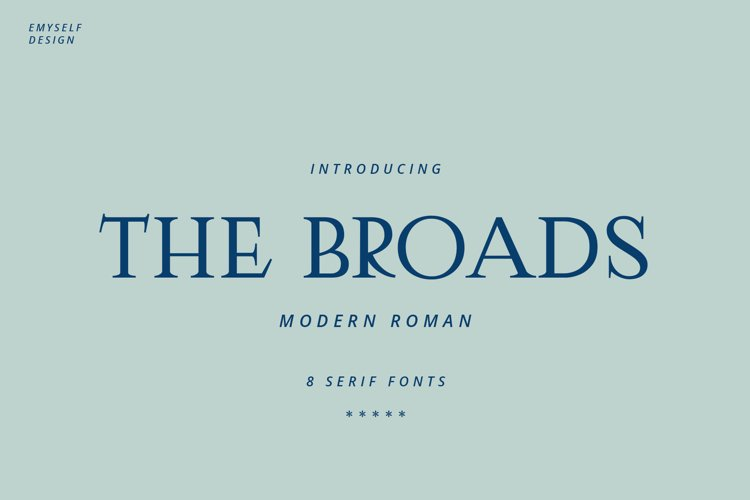 The Broads Font example image 1