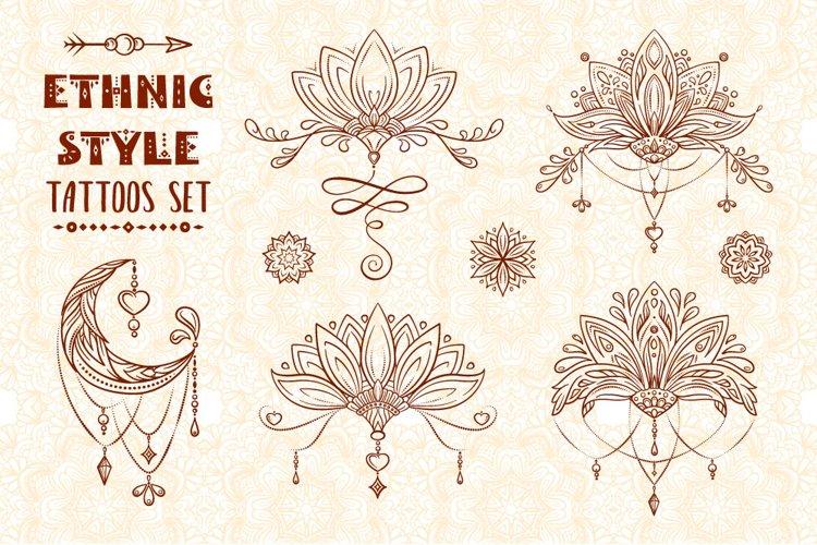 Ethnic style tatoos set example image 1