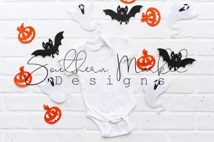 White Rabbit Skins Onesie Halloween Mock Up Stock Photo example image 1