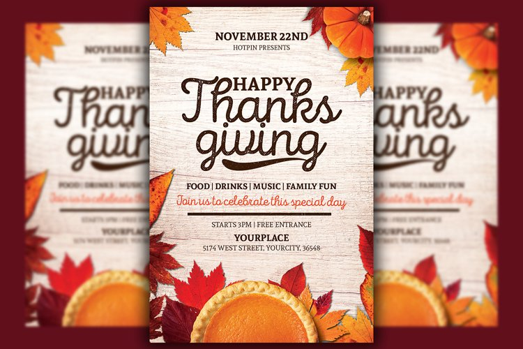 Thanksgiving Flyer Template example image 1