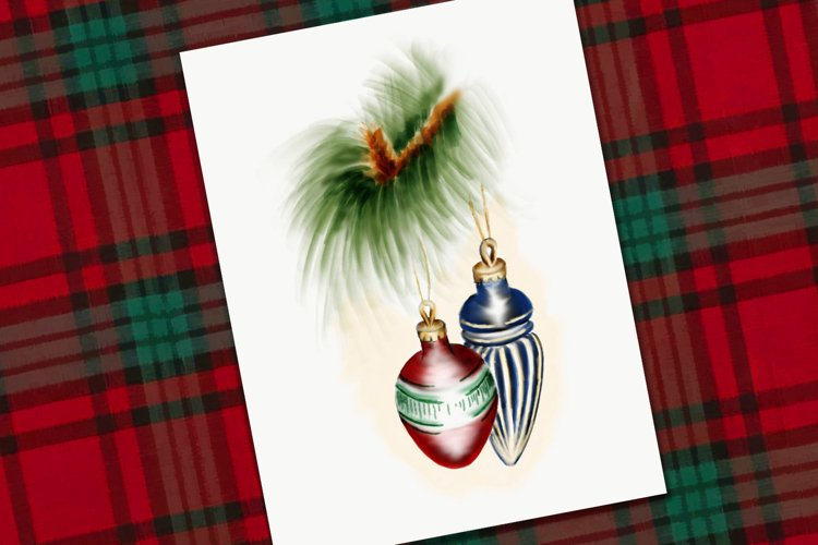 Red and Blue Christmas Baubles example image 1