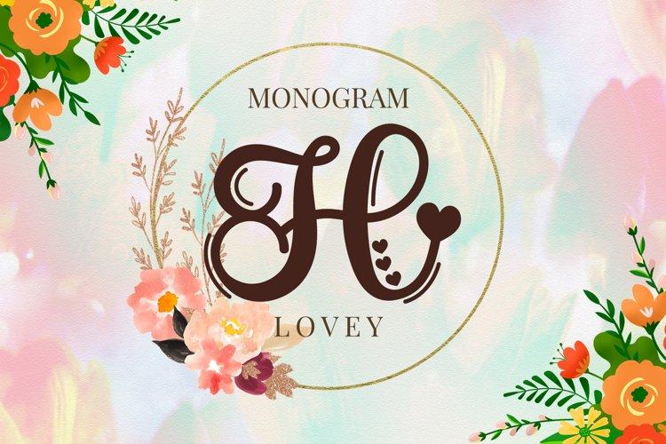 Lovey Monogram example image 1