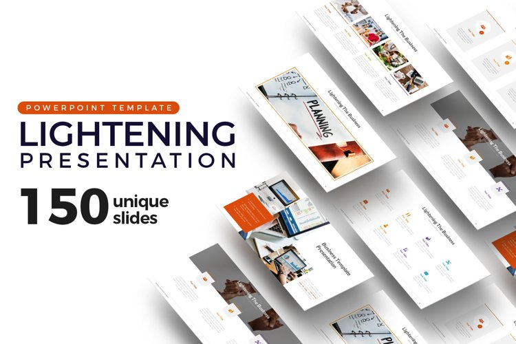 Lightening of Business Presentation Template