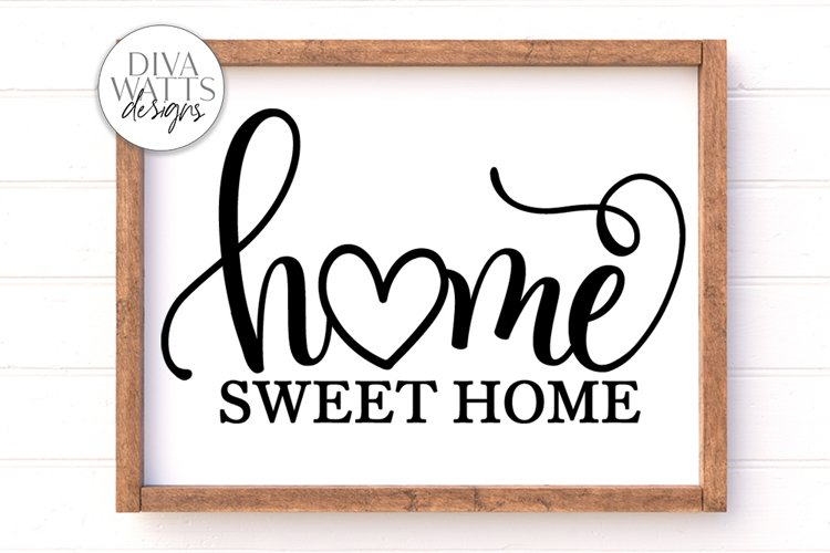 Home Sweet Home SVG | Farmhouse Sign | DXF and More example image 1