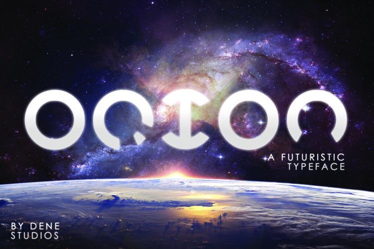 ORION - A Futuristic Typeface example image 1