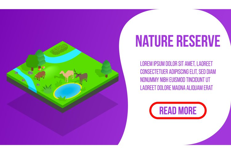 Nature reserve banner, isometric style example image 1