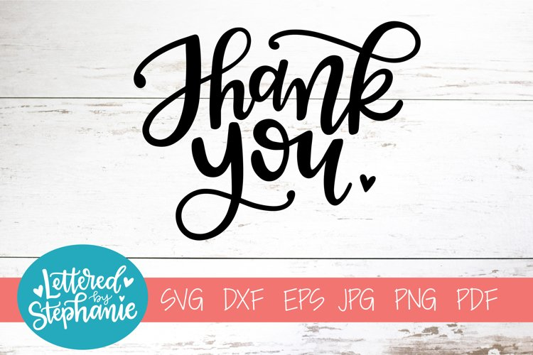 Handlettered SVG DXF, Thank you example image 1