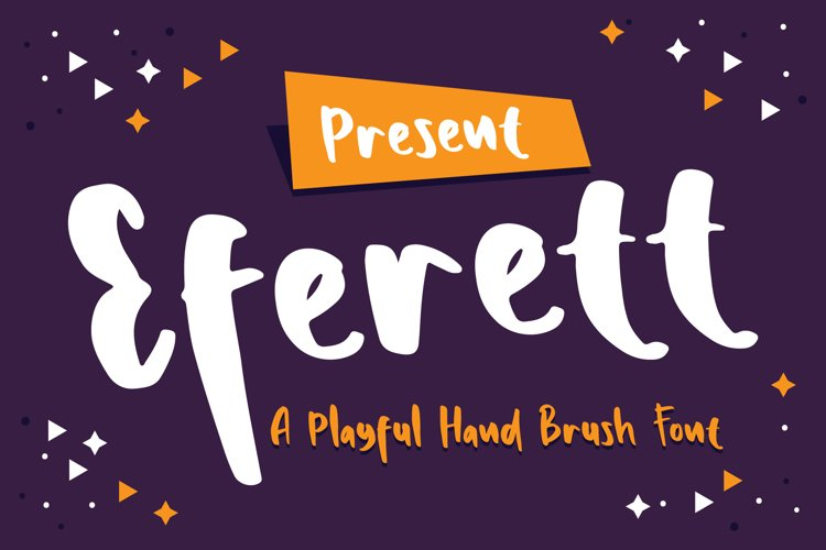 Eferett - A Playful Hand Brush Font example image 1