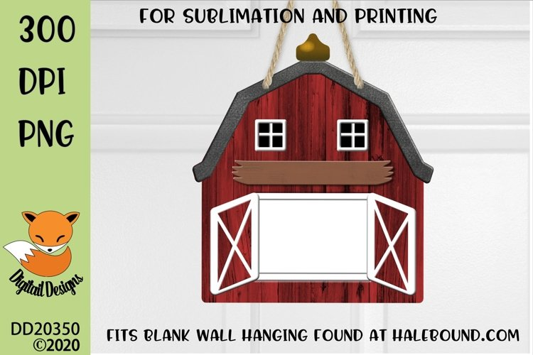Customizable Red Barn PNG for Sublimation
