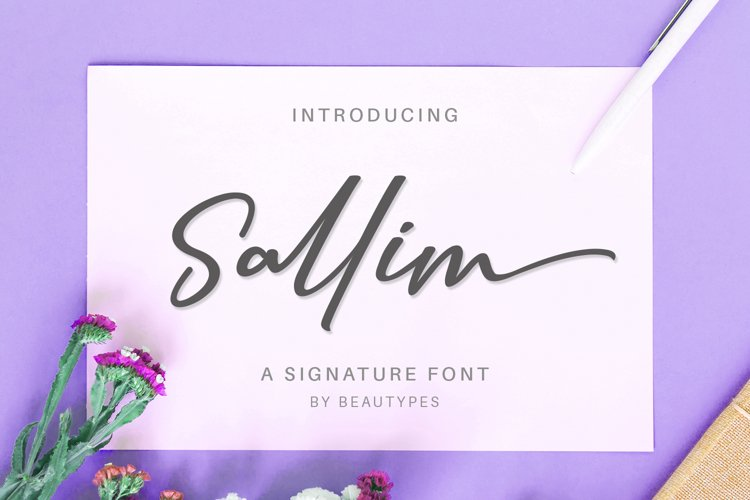 Sallim   Signature Font example image 1