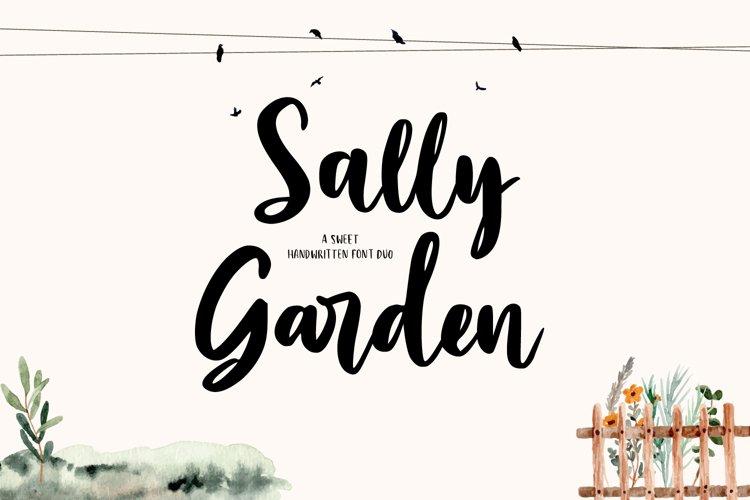 Sally Garden - A Sweet Font Duo