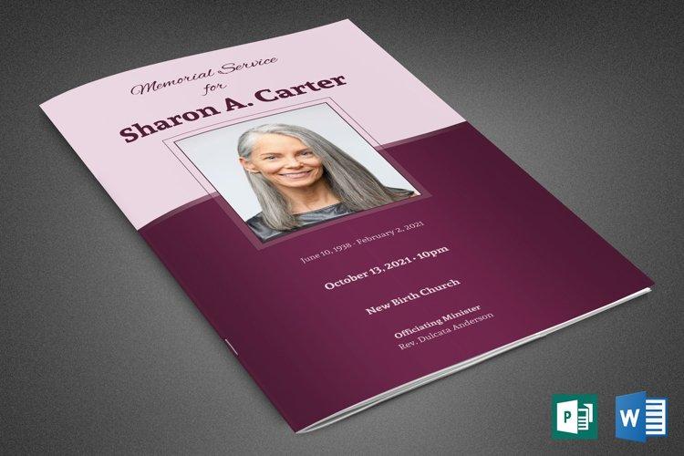 Sugar Plum Funeral Program Template example image 1