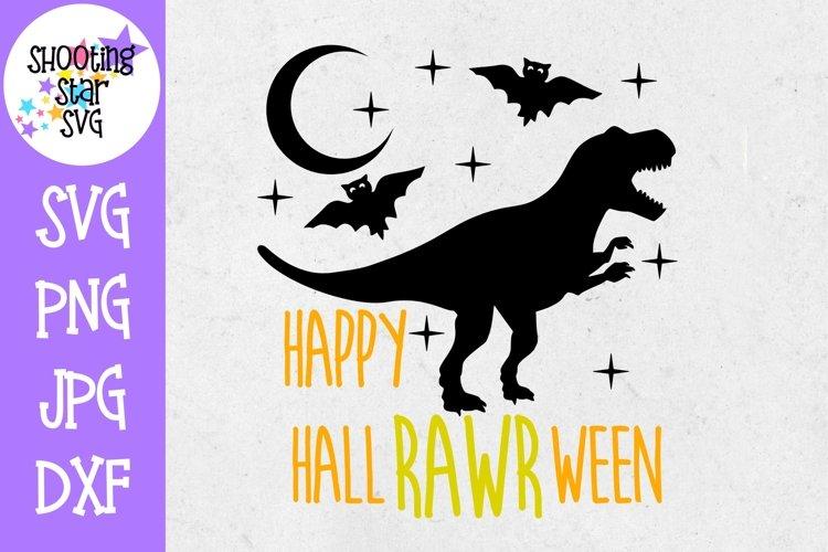 Happy HallRAWRween SVG - Halloween Dinosaur - Halloween SVG example image 1