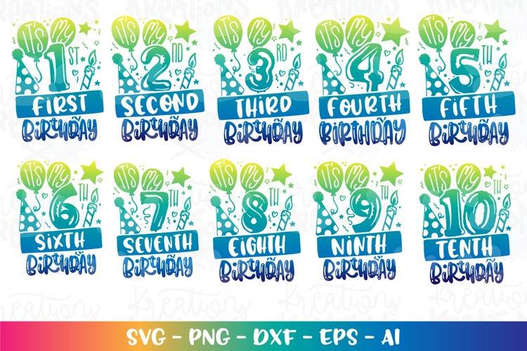 Birthday Bundle Pack svg 1-10 cut file silhouette cricut
