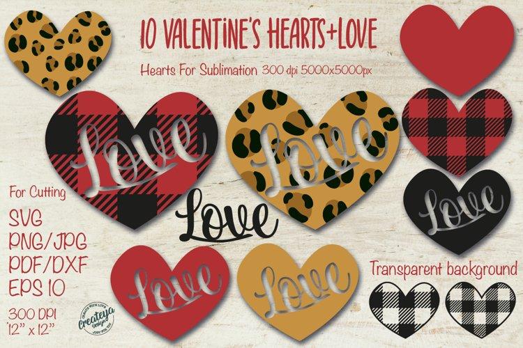 Download Valentine Svg Heart Svg Leopard Heart Buffalo Heart Svg 1109349 Cut Files Design Bundles