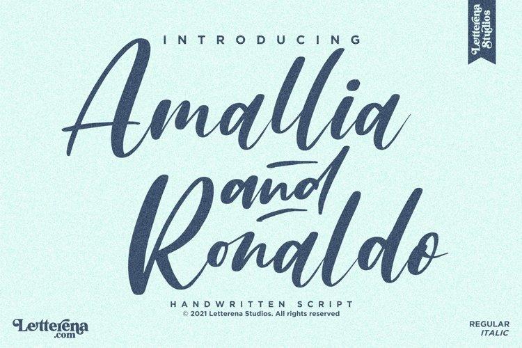 Amallia and Ronaldo - Handwritten Script Font example image 1