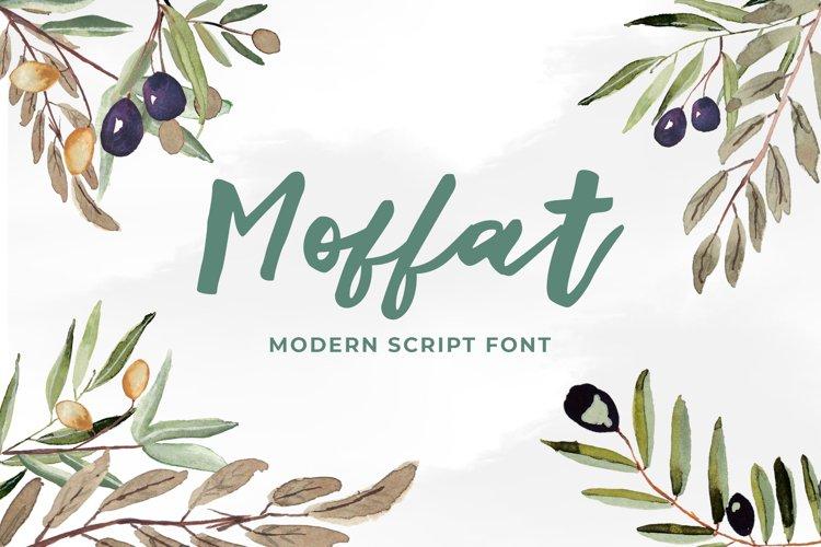Moffat Modern Script Font example image 1