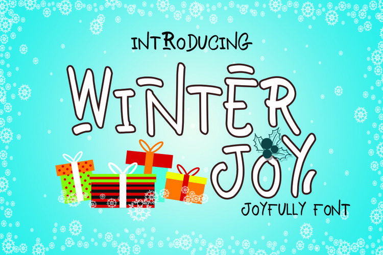 Winter Joy - Joyfully Font example image 1