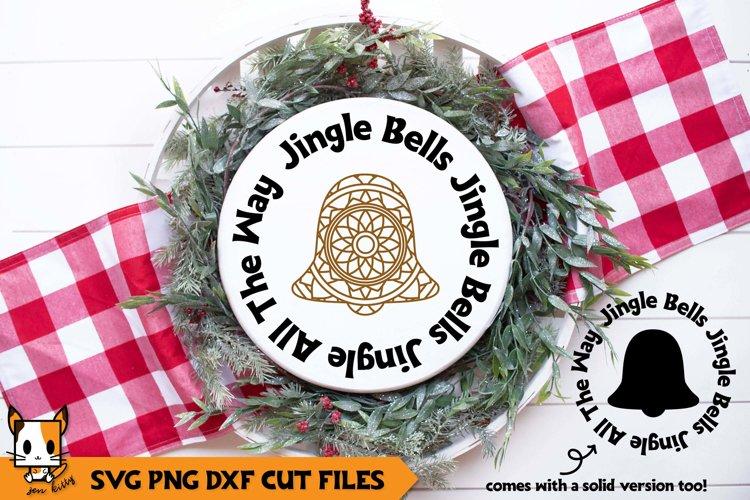 Christmas Mandala SVG | Jingle Bells | Wood Rounds example image 1