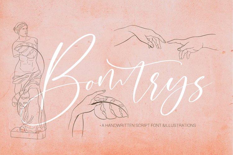 Bomtrys Script Font & Illustrations example image 1