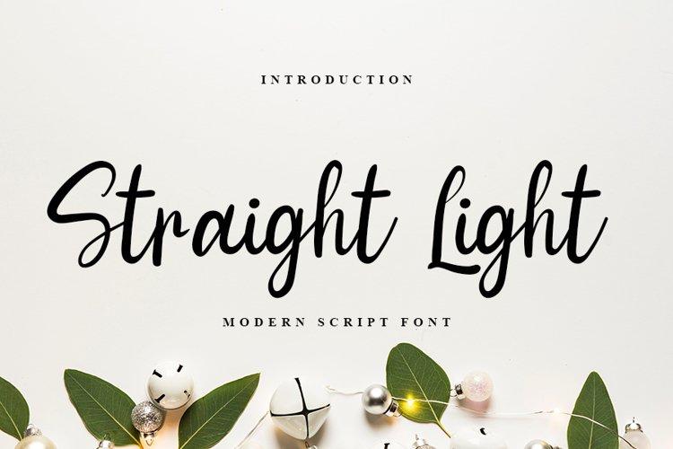 Straight Light   Modern Script Font example image 1