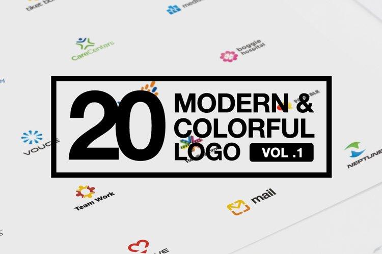 20 Modern & Colorful Logo Vol 1 AI EPS CDR PDF