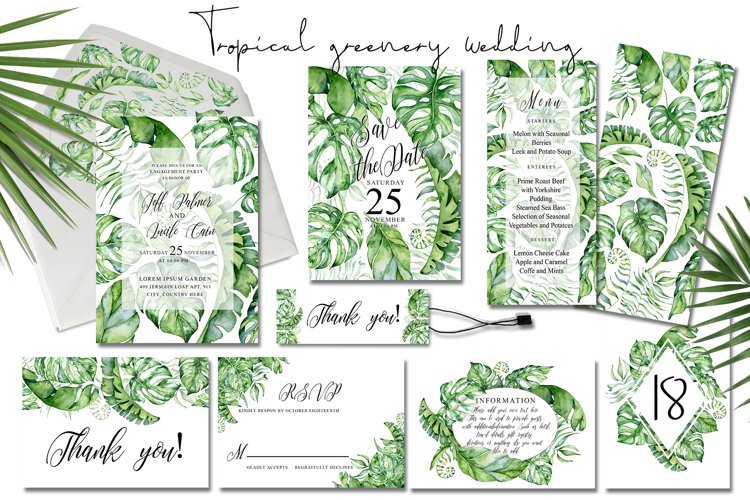 Tropical Greenery Wedding Suit example image 1