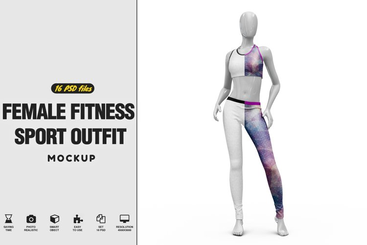 Female Sport Outfit Vol.4 Mockup example image 1