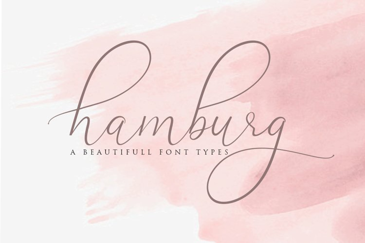 Hamburg Love Font Pretty example image 1