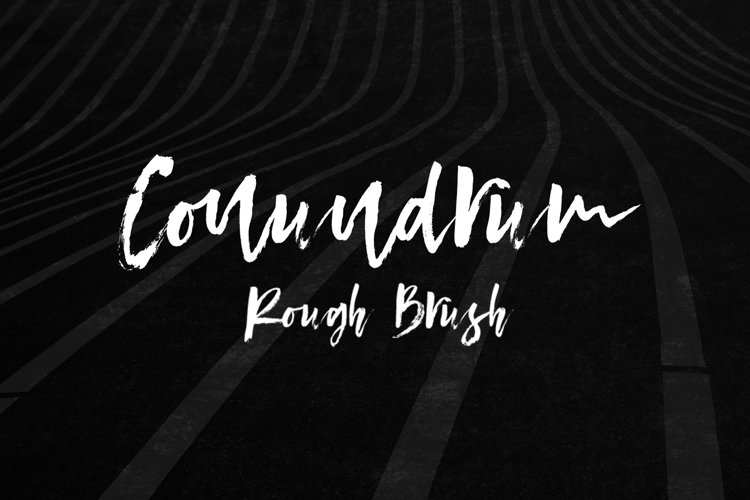 Conundrum Rough Brush Font example image 1