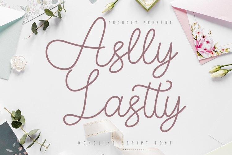 Aslly Lastty - Monoline Script example image 1