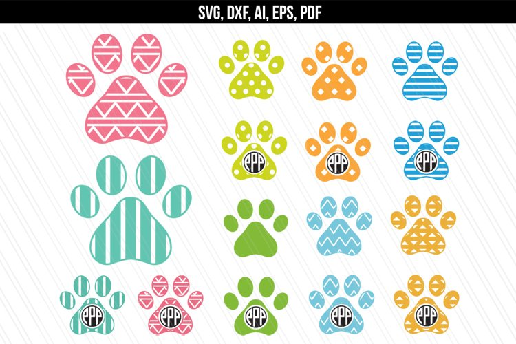 Dog Paw clipart SVG, DXF, AI, PDF, EPS example image 1