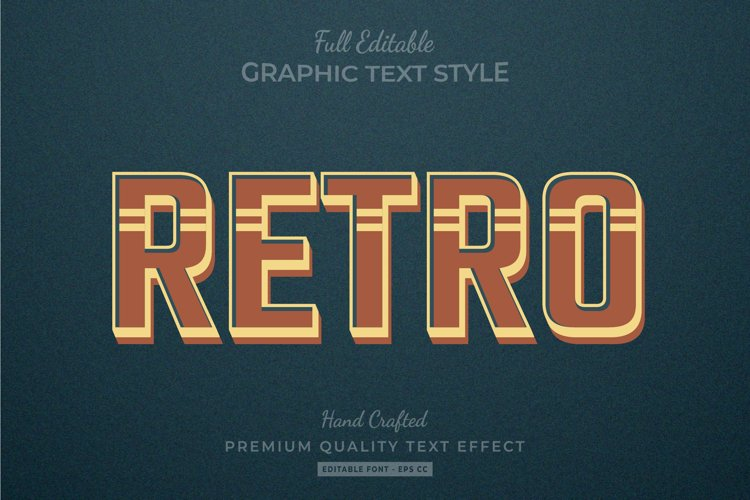 Retro Old Text Style Effect example image 1