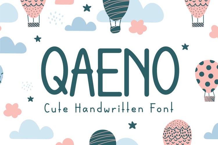 Qaeno - Handwritten Font example image 1