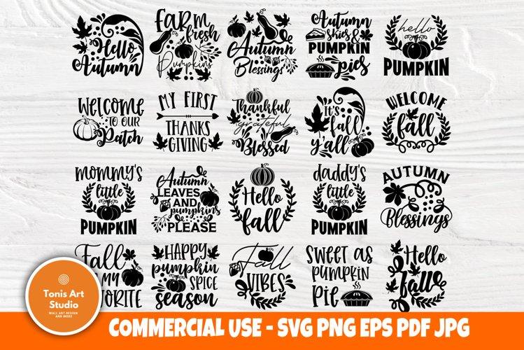 Fall Svg Bundle Autumn Svg Files Pumpkin Svg Cut Files 888181 Cut Files Design Bundles