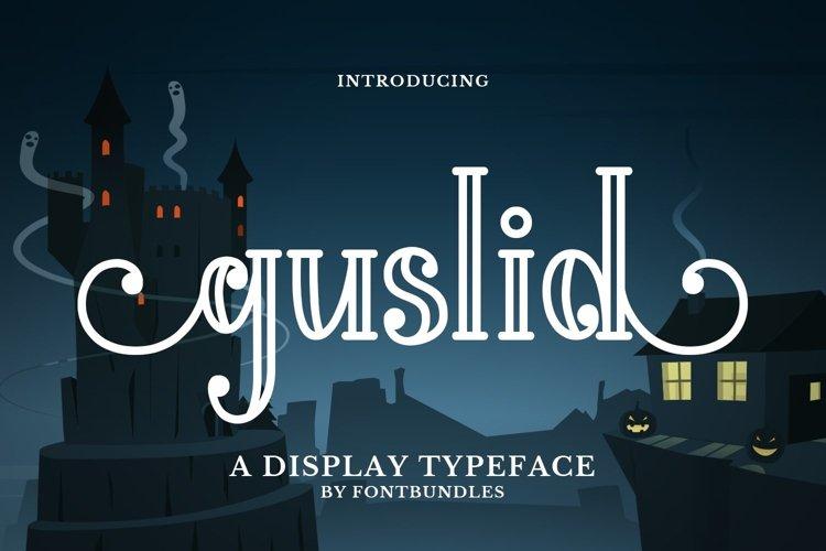 Web Font Guslid example image 1