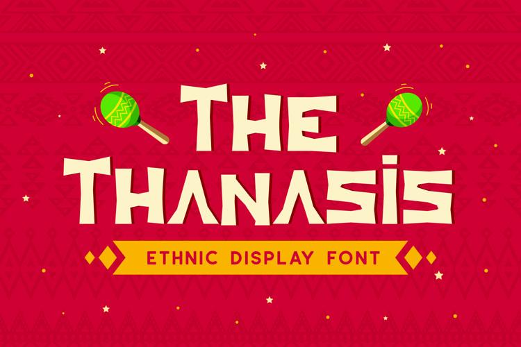 Web Font Thanasis - Ethnic Display Font example image 1