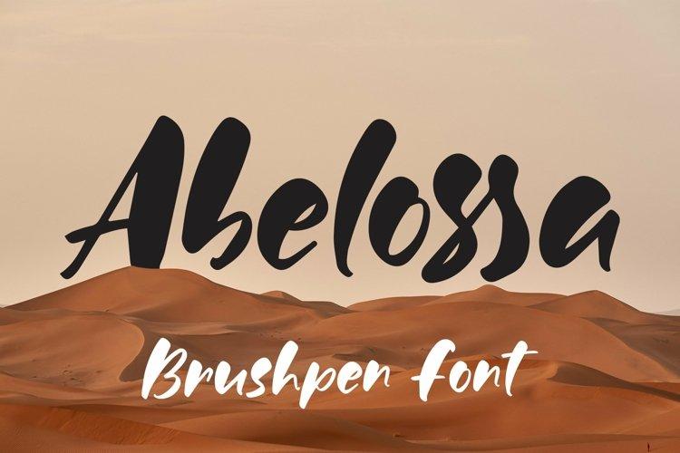 Web Font Abelossa - Brushpen Font example image 1