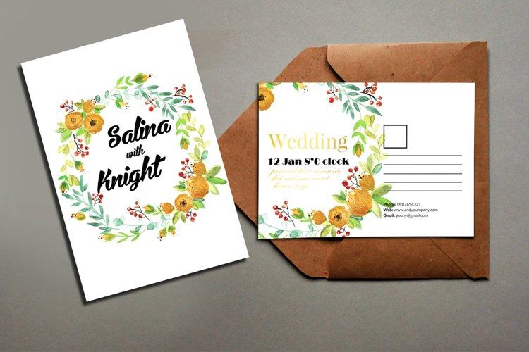 Floral Wedding Postcard example image 1