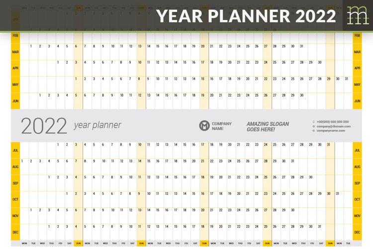 Year Planner 2022 YP025-22