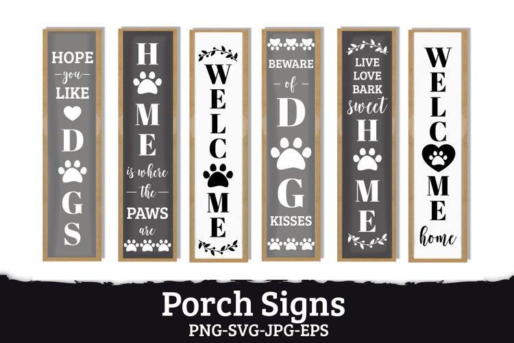 6 Porch signs, pets friendly, door vertical signs