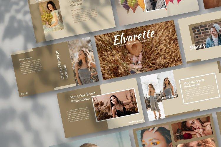 Elvarette - Creative Powerpoint Template example image 1