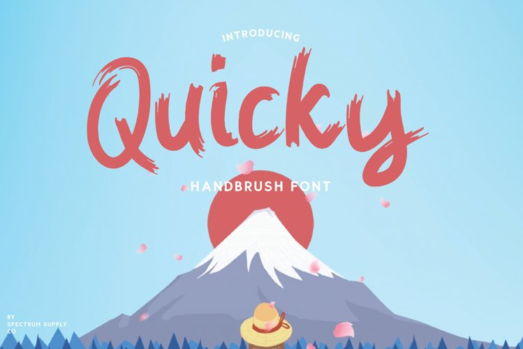 Quicky Brush Font example image 1