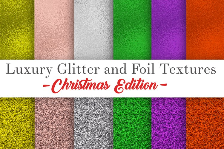 Glitter and foil textures ,digital paper- Christmas edition