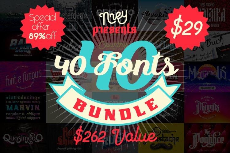 40 fonts bundle example image 1