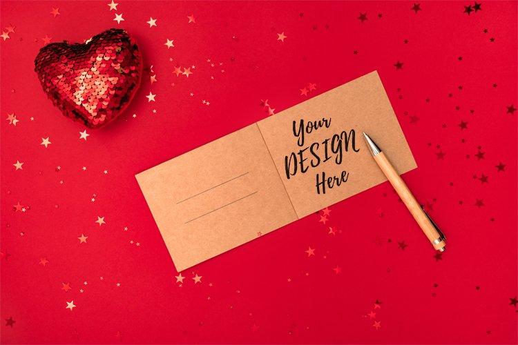Romantic card, invitation mockup example image 1