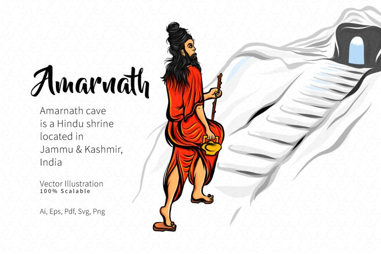 Amarnath Figure Vector Illustration example image 1
