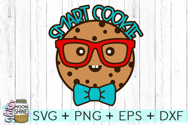Smart Cookie SVG DXF PNG EPS Cutting Files example image 1