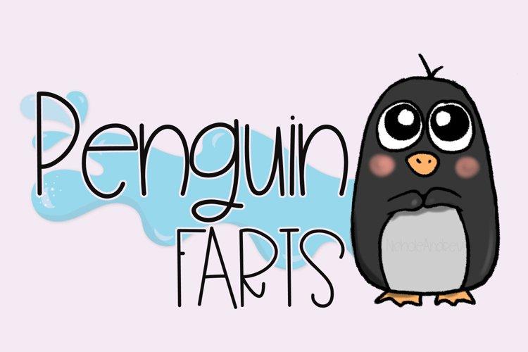 Penguin Farts - A Fun Handwritten Font example image 1