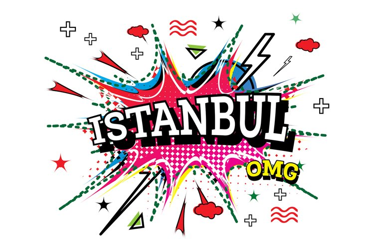 Istanbul Comic Text in Pop Art Style Isolated example image 1